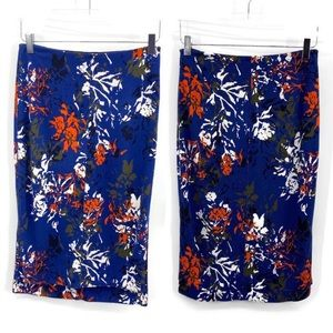 Lysse abstract floral print pencil skirt Size Med